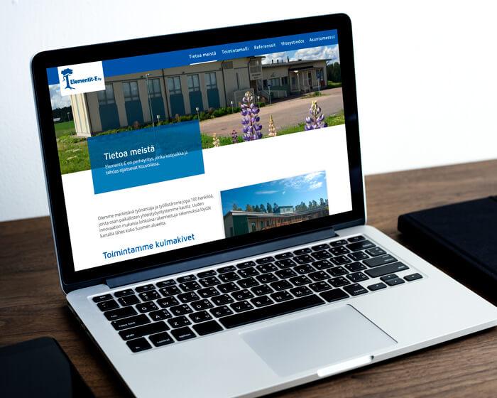 Elementit-E WordPress kotisivut