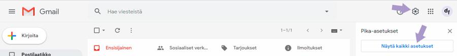 Näin kytket yrityksen sähköpostin maksuttomaan Gmailiin 1