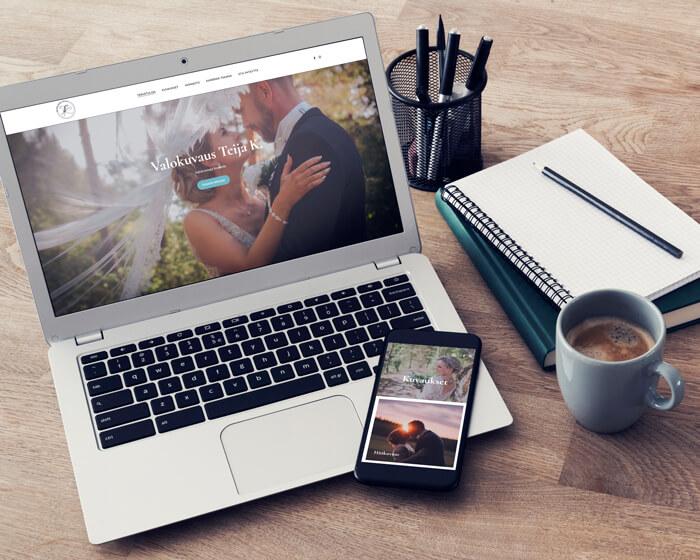 Valokuvaus Teija K. WordPress kotisivut portofolio kuvagalleria