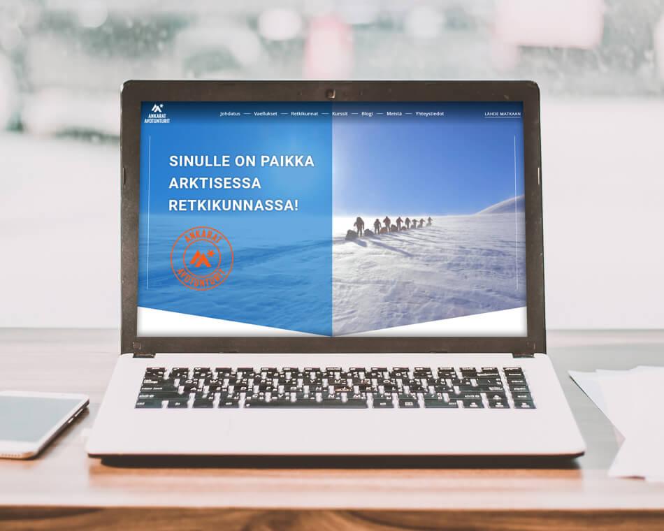 Ankarat Avotunturit WordPress-sivusto